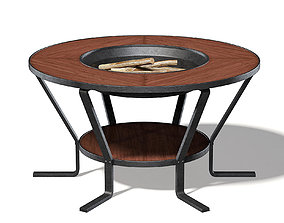 metal Barbecue Table 3D Model