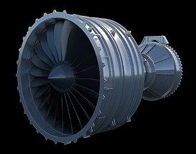 AIRCRAFT TURBOFAN ENGINE 3D model