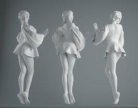 3D print model Women wear skirts 001