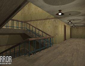Horror - modular interiror and props 3D asset