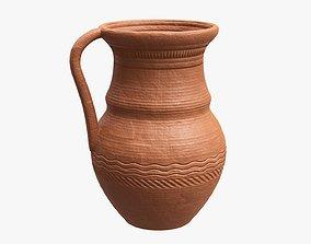 3D Ceramic jug vintage large