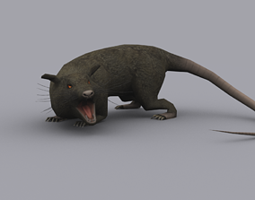 GIANT RAT GAME READY ANIMATED MODEL animated