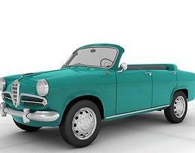 Alfa Romeo Giulietta Berlina open 1955 3D
