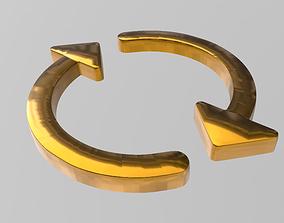 symbol Arrow sign 3D print model