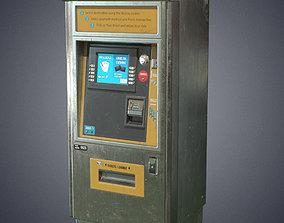 Metro ticket machine 3D model VR / AR ready