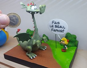 3D printable model FANART Fafnir Dragon Smurf