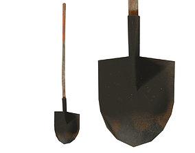 old rusty shovel 3D model