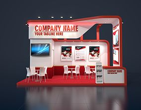exhibition stand 3d model 6x3m 012