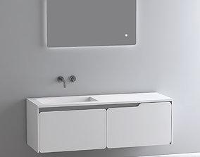 mirror SOLIDO Single vanity unit 2 3D model