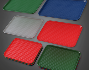 3D asset Fast Food Trays - SAM - PBR Game Ready