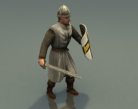 3D model game-ready Crusader Knight