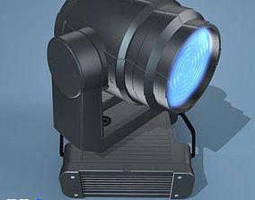 Moving Head wash light 3D model