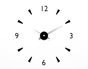 3D asset realtime Wall Clock