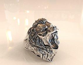 silver Bear Ring 3D print model