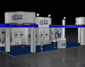 3D model Exhibition Stand - ST0044