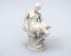 Printable Memory Statue Lowpoly Style