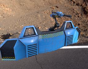 3D asset scifi barrier with gun