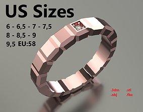 Model 112 Chopard Big Facet Diamond Ring Ice Cube Pure US