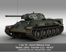 3D T-34-76 - Model 1942 - Soviet medium tank -