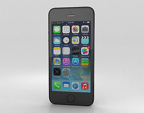 Apple iPhone 5S Space Gray Black 3D
