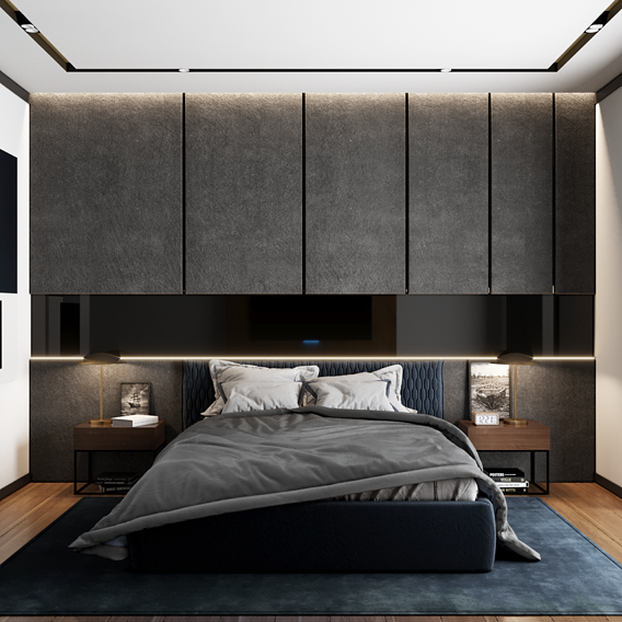 Minimalistic bedroom design 001