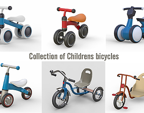 3D model Collection of Childrens bicycles
