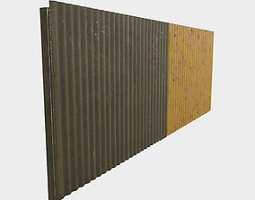 3D asset Low Poly PBR Modular Corrugated Fence