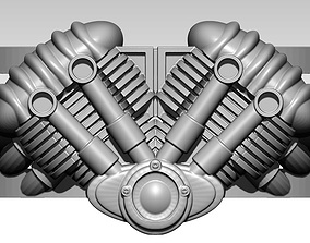 3D printable model King of the road Ring Motor Engine