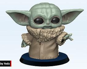 Baby Yoda Funko Pop Force - Chibi 3D printable model 2