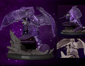 sasuke with susanoo and aoda 3d print statue - naruto