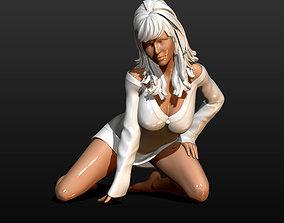 3D print model pretty girl in a sweater