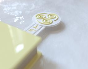 ATLA Air Nomads Bookmark 3D print model