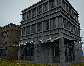 OLD RETRO CLASSICAL BUILDING 8 3D asset