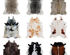 Nine Rugs From Animal Skins 08 3D model