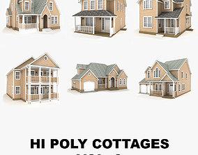 3D model Hi-poly cottages collection vol 9