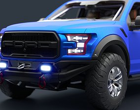 3D asset Ford F-150 Raptor 2017 Racing Style