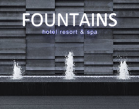 3D Fountains Wall