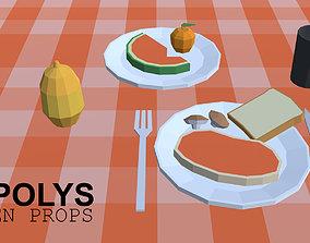 3D model FLAT POLYS - Kitchen props