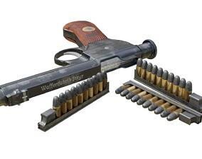 Roth Steyr 1907 M7 pistol 3D asset