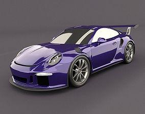 3D model Porsche 911 gt3 rs 2015 restyled