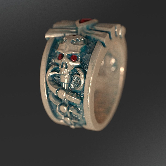RING WITH THE SKULL