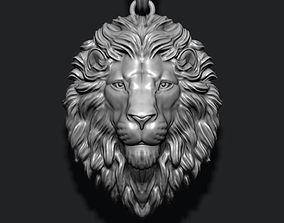 Lion pendant closed mouth 3D print model