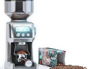 Breville Grinder and Starbucks Coffee Packaging 3D model