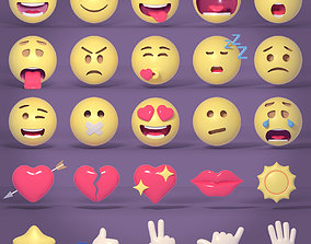 Smileys and Icons Pack 3D asset