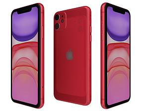 3D Apple iPhone 11 Red