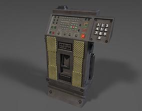 Sci-fi Computer Terminal 3D asset