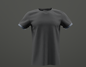 Black classy tshirt with african accents 3D