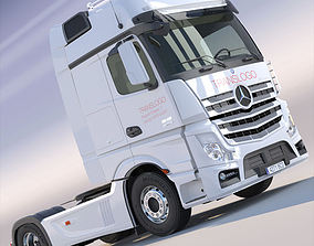 New Mercedes Actros MP4 GigaSpace Truck 3D model