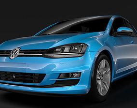 Volkswagen Golf 7 TDI 5D 2016 3D