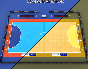 Futsal court arena 3D model